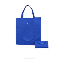 100% new material navy blue foldable 100gsm pp non woven shopping tote bag