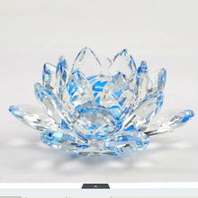 Premium K9 Clear Crystal Lotus Flower For Fengshui Gifts