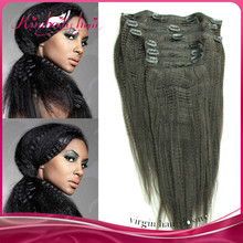 nice looking good quality coarse yaki clip in hair extension for wholesale