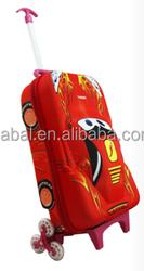 EVA Material and Wheeled Bag Type cartoon kids school trolley bag