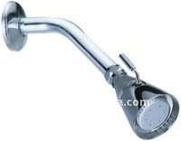 brass shower head with arm and flange 3 function