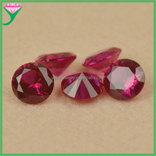 Round brilliant cut 5# red synthetic madagascar ruby