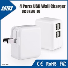 4 USB Ports Charger with Replaceable Plug
