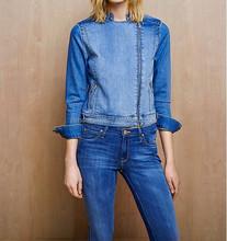 wholesale blue Denim Biker Jacket for women & girls women's cloth