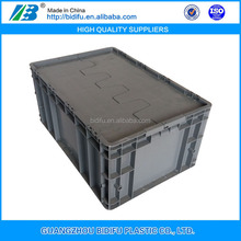 plastic crate with lid 600*400*280 mm plastic container with lid