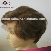 Heat Resistant Synthetic Hair Side Part Bob short style grey hair wig