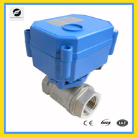 2 way electric stainless steel pipe ball valve 3v 6v battery power
