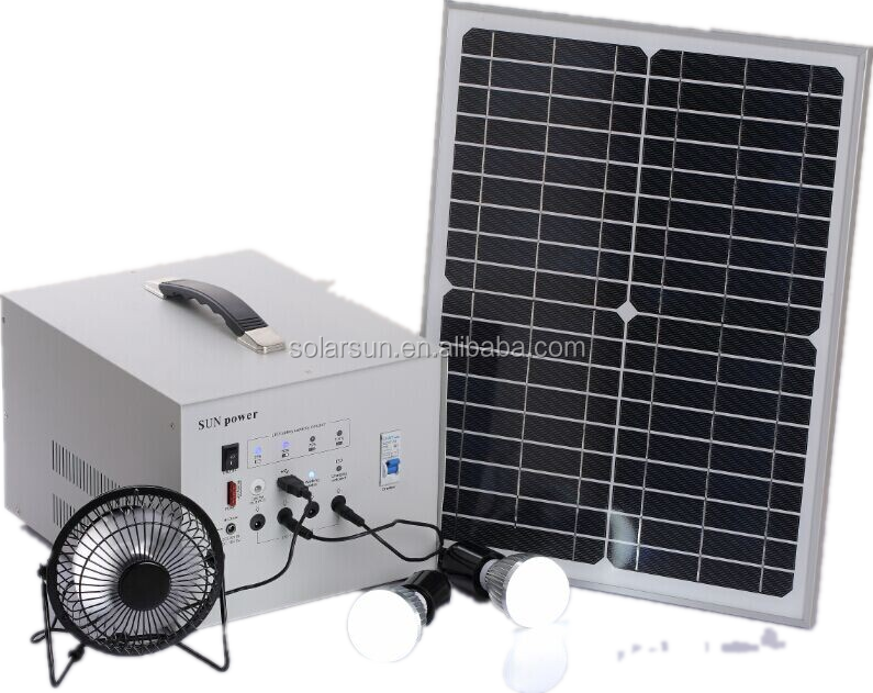 Cheap Portable Solar Generator 50w Home Solar Panel Kit - Buy 50w ...