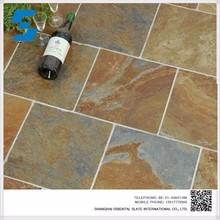 2015 Hot Sale natural slate stone Eco-Friendly Slate floor tiles,Cheap Floor Tiles For Sale