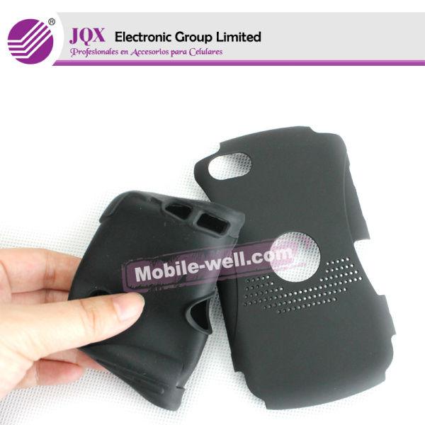 FUNDA GEL TPU TRANSPARENTE + PROTECTORA para para blackberry 9700