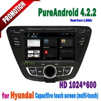 Manufacturer Directly Sale 2 Din Car DVD GPS For Hyundai Elantra 2014 supportBluetooth Hand Free Call/ Rear-view Camera/ SD Card