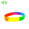 rainbow colors silicone wrist band party favors