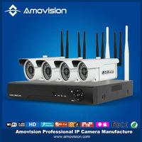 Hot sale WAK2401 720P IP Camera system NVR Kit 4CH ip camera kit