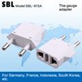 Tipo europa adaptador plugs, alta qualidade europeia de conversão socket, a bitola adaptador
