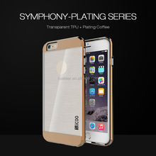 Wiredrawing tpu pc case for iphone 6 cover,cute mobile phone cover