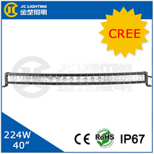 40 inch 224w c ree led curved work light bar for truck, tractor, jeep, mini jeep, boat, bus, train, ship, 4MD