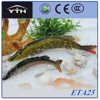 ETA25 Musky Pike Bass Wooden Fishing Spinner Lures!