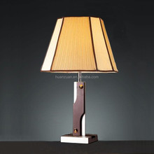 popular old wooden modern guest room table lamp ,good quality bedroom side table lighting luminaire