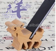 Creative wood wooden dock stereo phone handset bracket personalized wood crafts gift