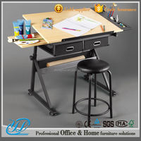 YL501 lowest price popular and hot sale old school desks for sale kids furniture of drawing table for school
