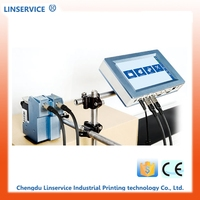 Industrial inkjet marking and coding pipe plastic tube printing machine