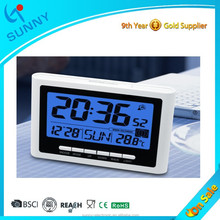 Sunny Elegant Design Digital Radio Controlled Alarm Clock With Big Snooze Buton