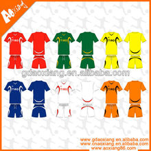 Fashion Soccer team Made in Guangzhou soccer shirt and short