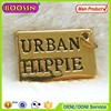 18K golden customized tag logo jewelry charm for necklace #13802