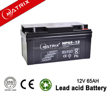 12v 65ah VRLA batteries battery for Iran UPS
