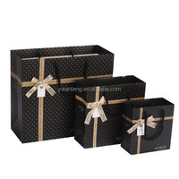 fashion factory shopping gift cheap ribbon handle paper bag