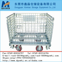 solid mental wire container collapsible wire mesh container