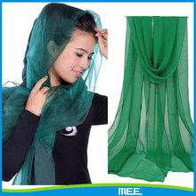pure color chiffon scarf muslim hijab shawl