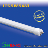 Made in TAIWAN PC cover CE RoHS 1FT 5W T5 LED tube lighting