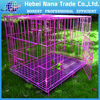 Selling The Black Pet Cage , Metal Dog Cage With ABS Tray
