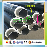 heat resistant steel pipe building materials with polyurethane foam and pe jacket