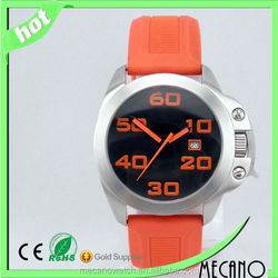 Colourful silicone strap watches your brand men watch japan movt quartz watch price