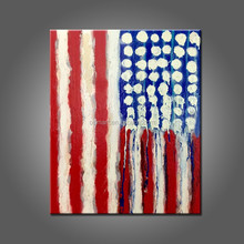 Wholesale Unique Gift Hand Painted America Flag Abstract The Old Glory Oil Painting On Canvas