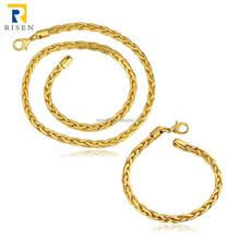 fashion jewelry 18K gold squar wedding jewelry sets GPS411