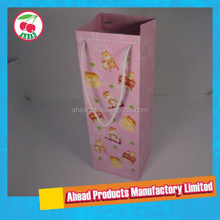 Laminated White cardboard paper wine bag