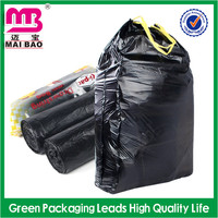 Factory Wholesale Black Dog Waste Trash Bag on Roll/ T Shirt/Drawstring Medical 100% Biodegradable Plastic Garbage Bag