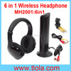 Hot Selling 6 in 1 Wireless Headphone for TV PC DVD MP3 MP4 with FM radio