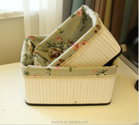 Pastoral style Bamboo fruit vegetable basket,Storage basket,floding basket