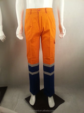 Workwear Trousers With reflective strap & two colour fabric - Spring Workwear