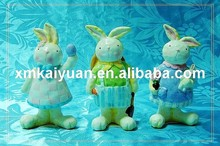 Easter ceramic decoration bunny figurine