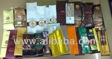 Manual filling bags for food packaging