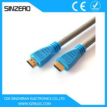 1.4 HDMI to HDMI Cable Gold Plated 19Pin Support 3D 4Kx2K 1080P