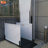 high safety hydraulic straight personnel lifts for handicapped