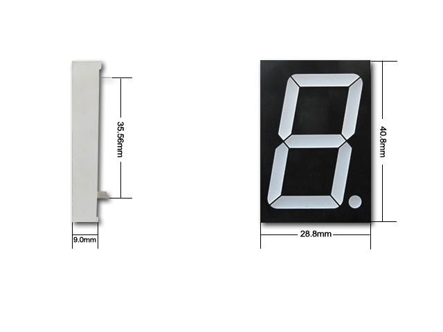 Kem-12011-BB Common Anode 1.2 inch Single Digit 7 Segment LED Display Blue