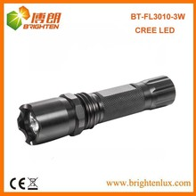 Factory Sale CE Power Bright 160LUMEN Aluminum 1101 Police 3watt CREE LED Swat Flashlight with 3aaa Battery