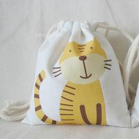 WBGE174 Wholesale Animal Tiger Drawstring Travel Backpack Bag